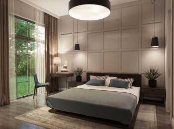 Спальня в жилом комплексе Gatchina Gardens